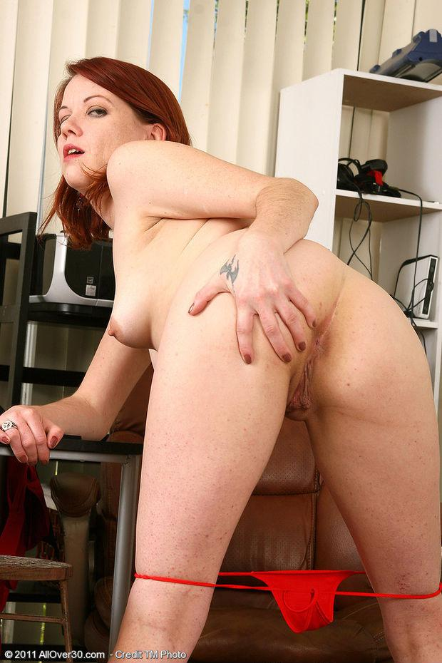 Freckled redhead milf nude images