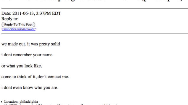 Are the personals on craigslist real