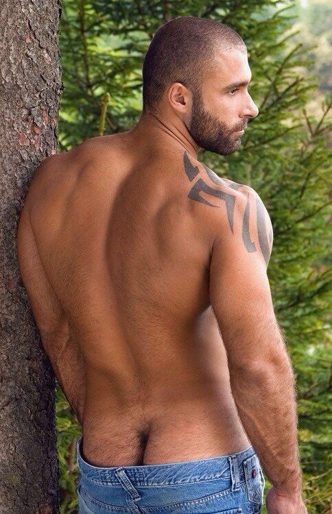 Hairy male ass