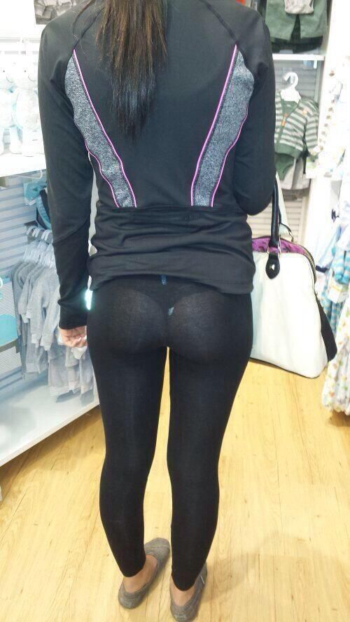 Yoga pants see thru photo 2